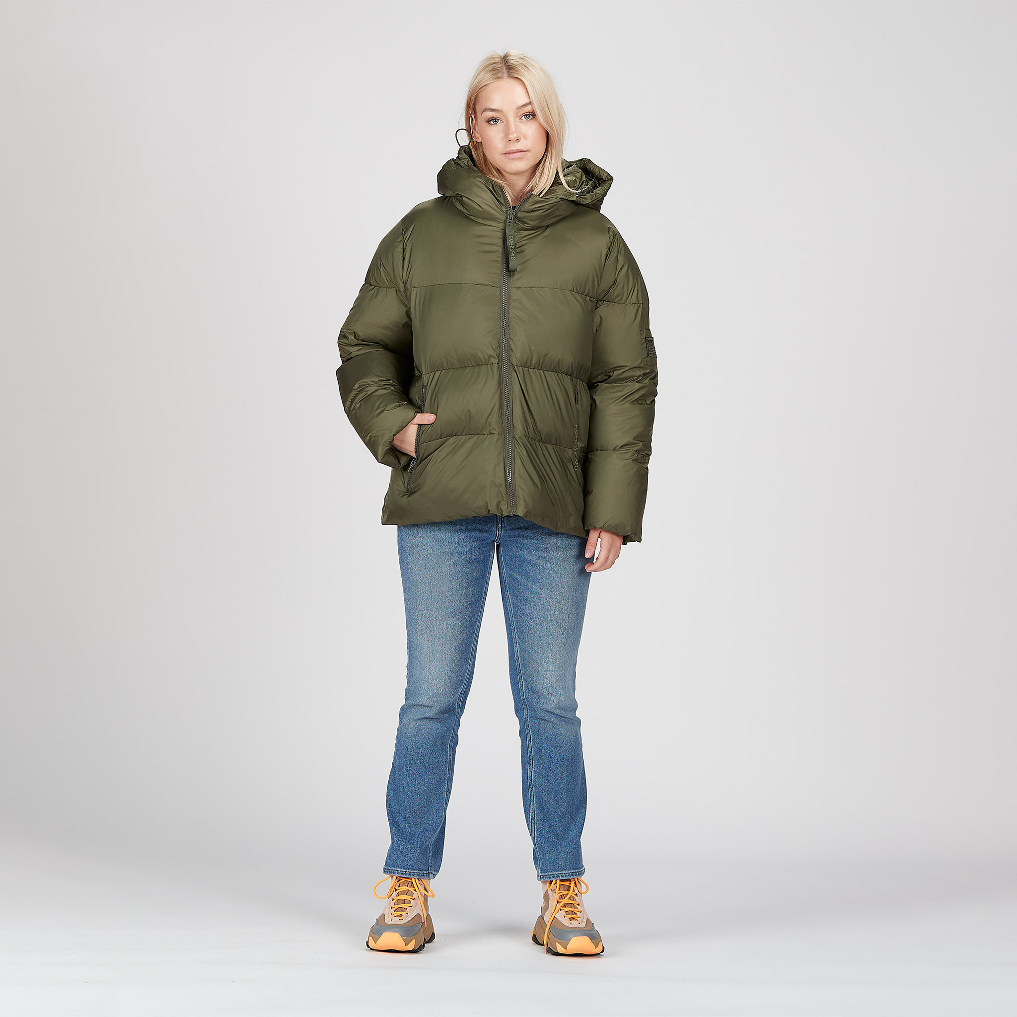 Short Padded Hood Jacket