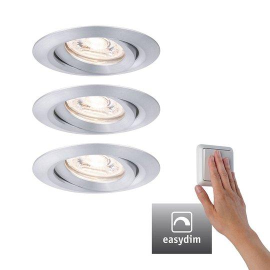 Paulmann Nova mini Plus LED easydim 3 kpl alumiini