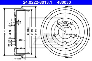 Jarrurumpu, Taka-akseli, BMW 3 [E36], 3 Compact [E36], 3 Coupé [E36], 34 21 1 159 486