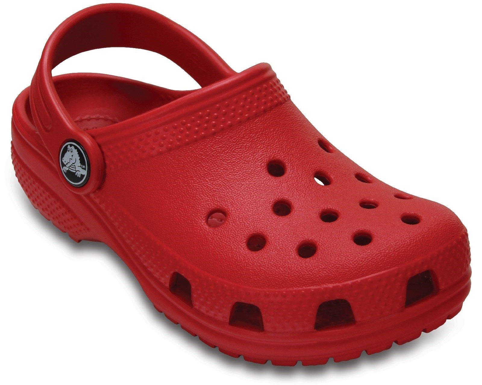 Crocs Kid's Classic Clog Slip On Sandal Various Colours 25239 - Pepper Red 4 UK