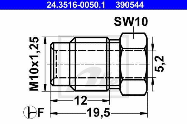 Liitosruuvi ATE 24.3516-0050.1