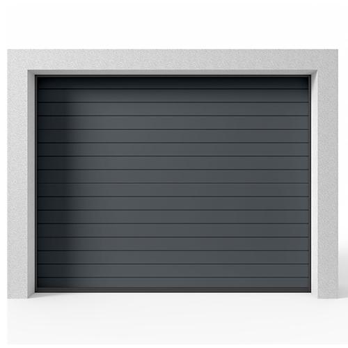 Garasjeport Leddport Moderne Striper Antrasittgrå, 2400x2000