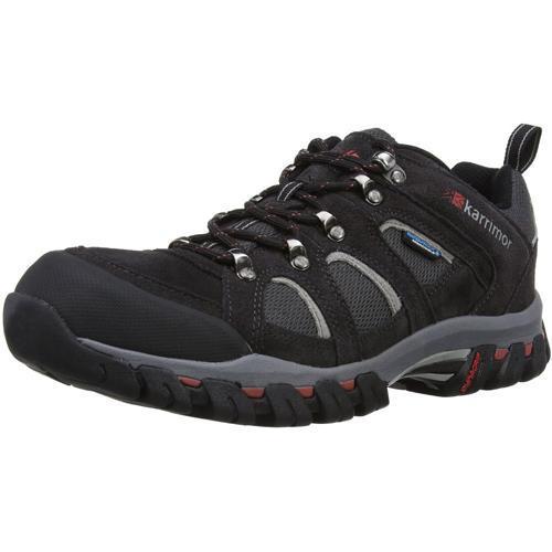 Karrimor Men's Weathertite Low Rise Waterproof Hiking Boot Various Colours Bodmin Low 4 - Black Sea UK-7