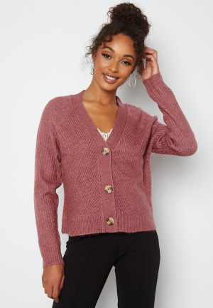 ONLY Carol L/S Cardigan Knit Crushed Berry M