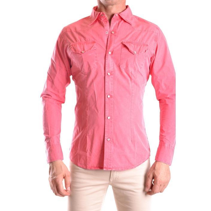 Daniele Alessandrini Men's Shirt Pink 186669 - pink S