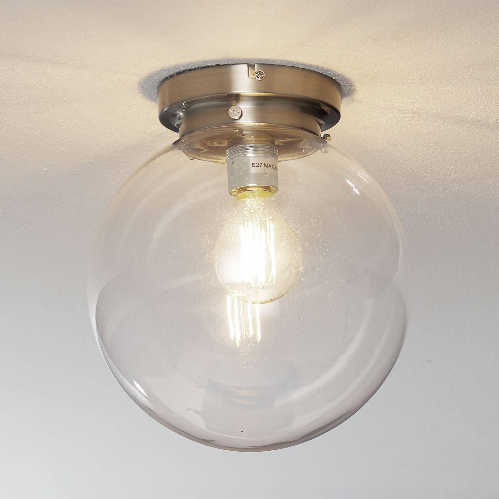 Globe - taklampe med klar kuleskjerm