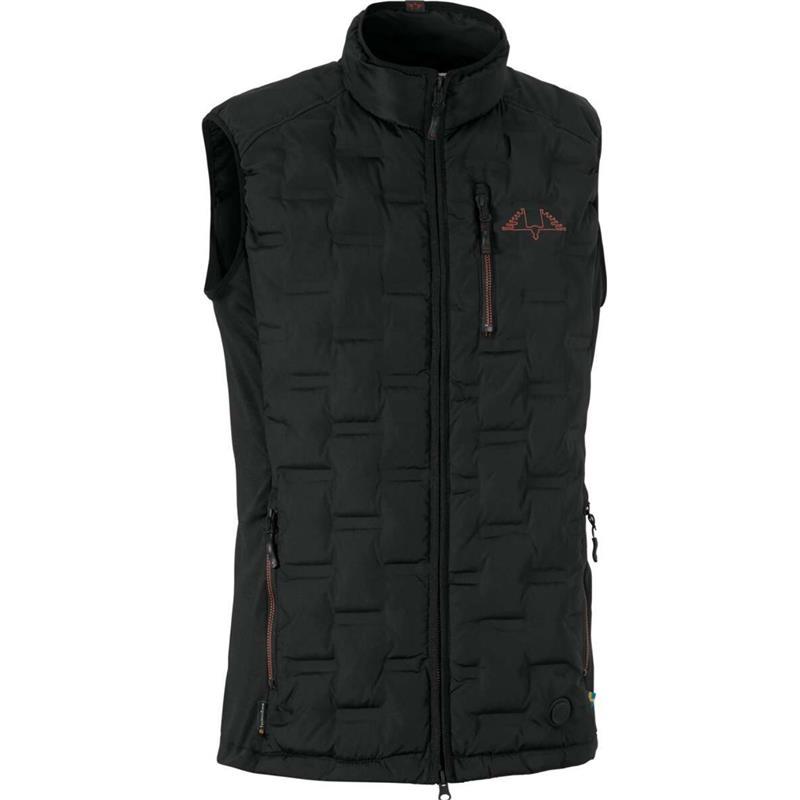 Swedteam Alpha Pro M Vest Black XS Elektrisk varmevest i Black