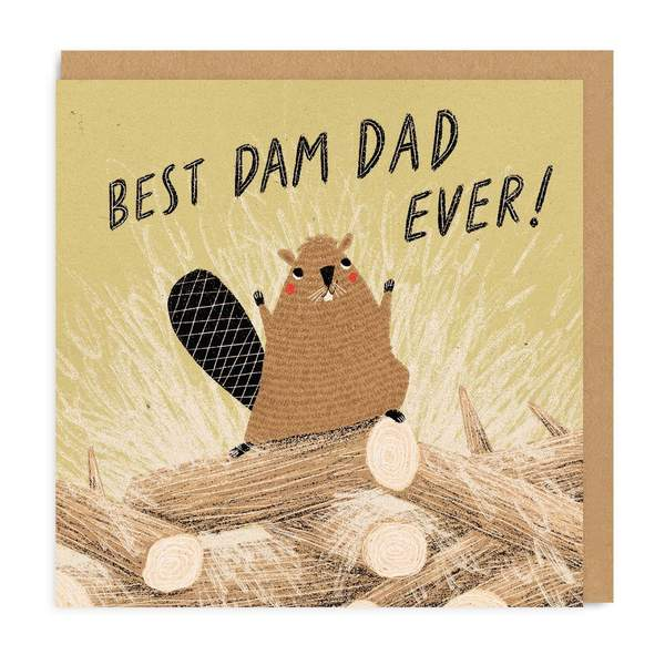 Best Dam Dad Square Greeting Card