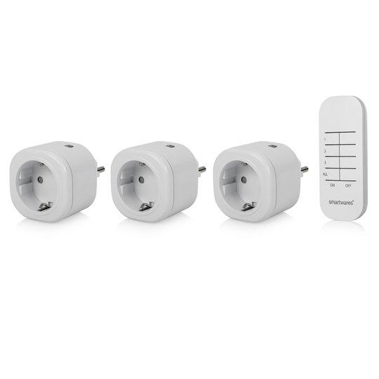 3er-sett mini-radiostikkontakt SH4-99566 innendørs