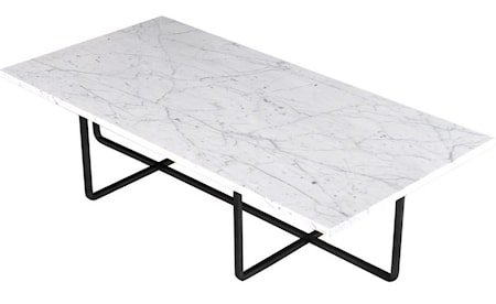 Ninety Table XL - Carrara marmor/svartlakkert metallstomme H30 cm