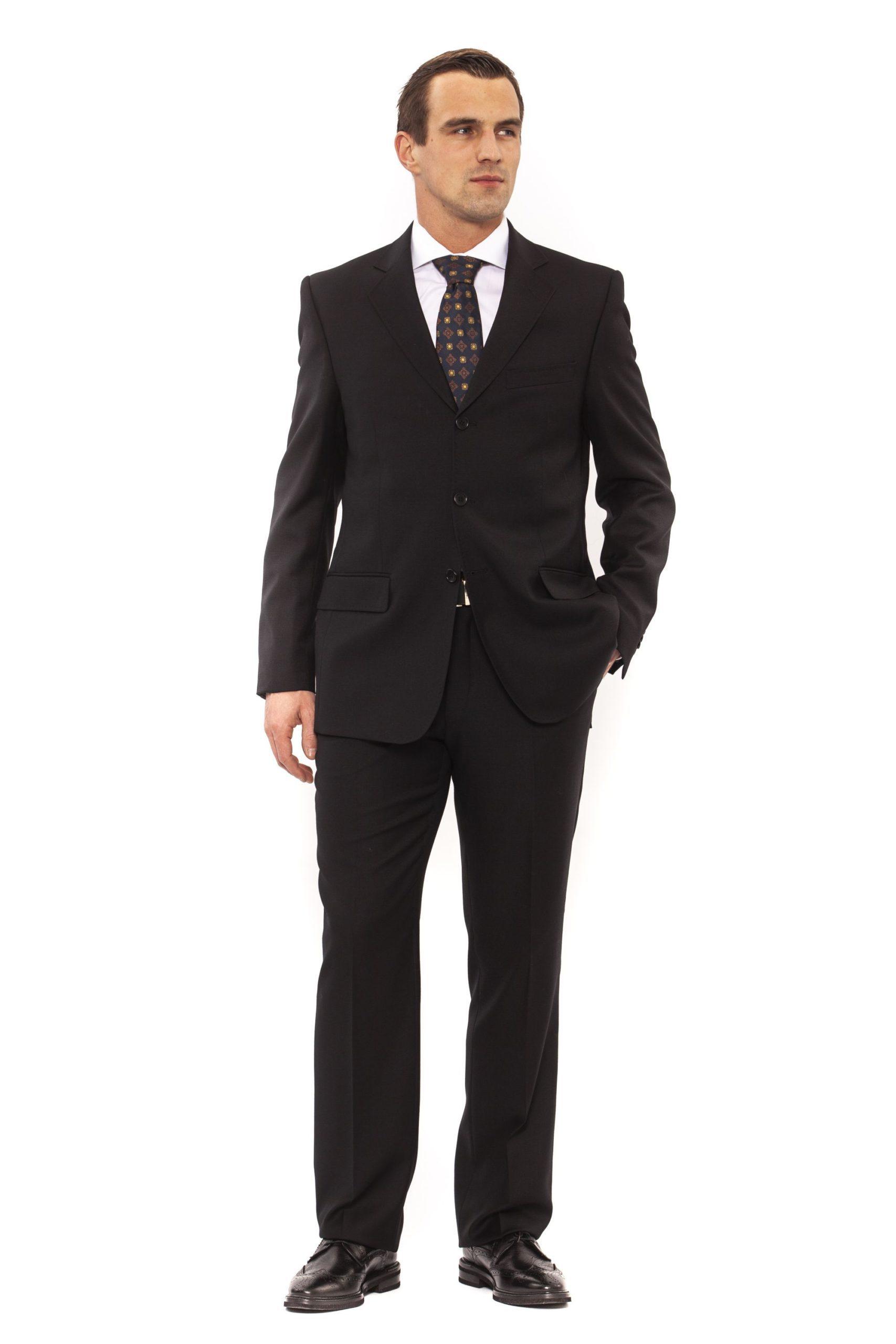 Ferre Men's Clothing Nero Suit Black FE991810 - IT52   L