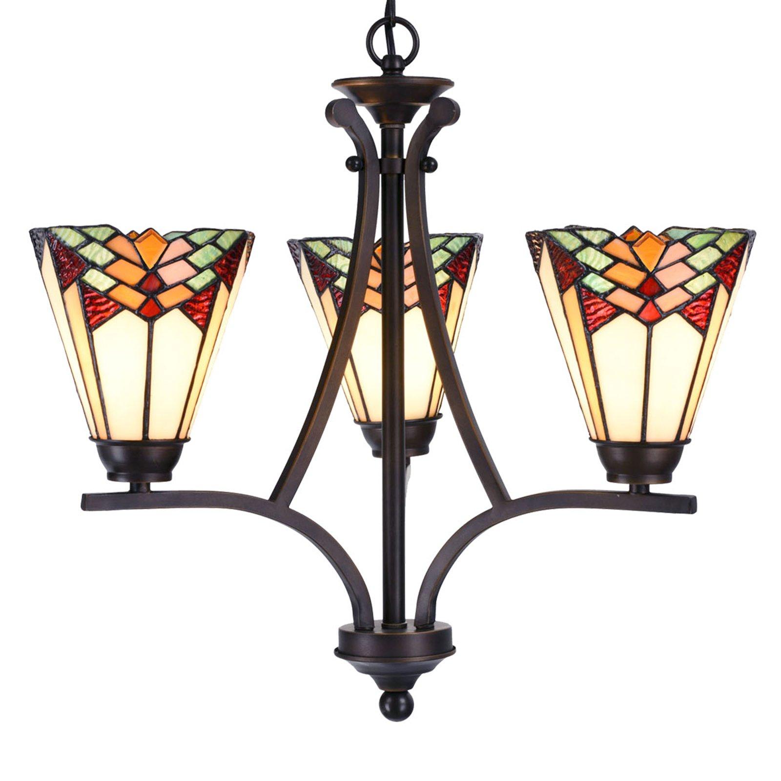 5967 lysekrone, 3 lyskilder i Tiffany-stil