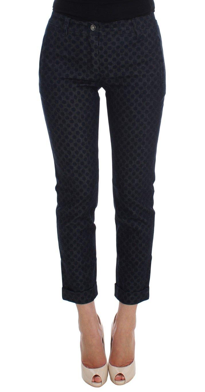 Dolce & Gabbana Women's Polka Dotted Slim Capris Jeans Blue SIG20019 - IT38|XS