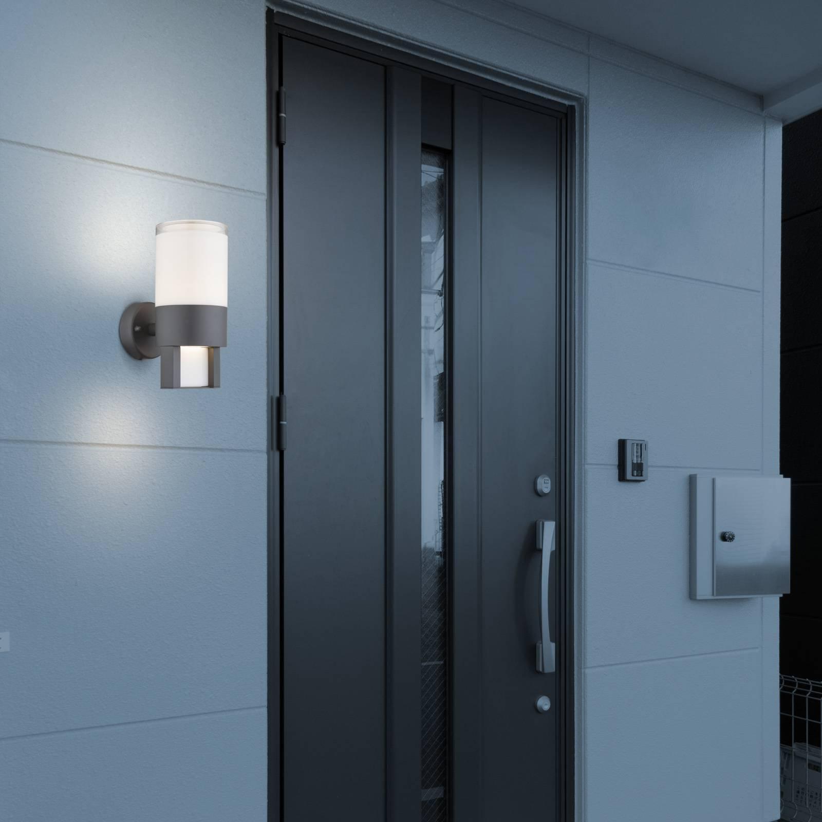 Utendørs LED-vegglampe Nexa, antrasitt/opal