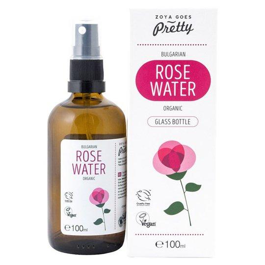 Zoya Goes Pretty Organic Bulgarian Rose Water i Glasflaska, 100 ml