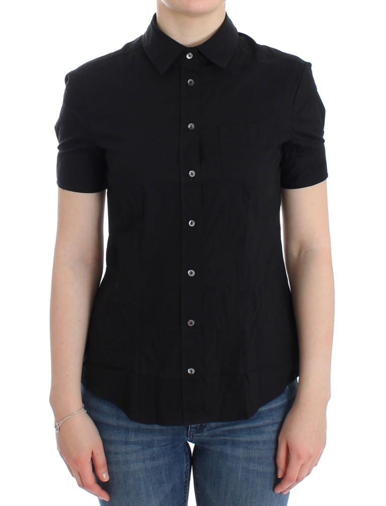 John Galliano Women's Cotton Shirt Black SIG12561 - IT42|M