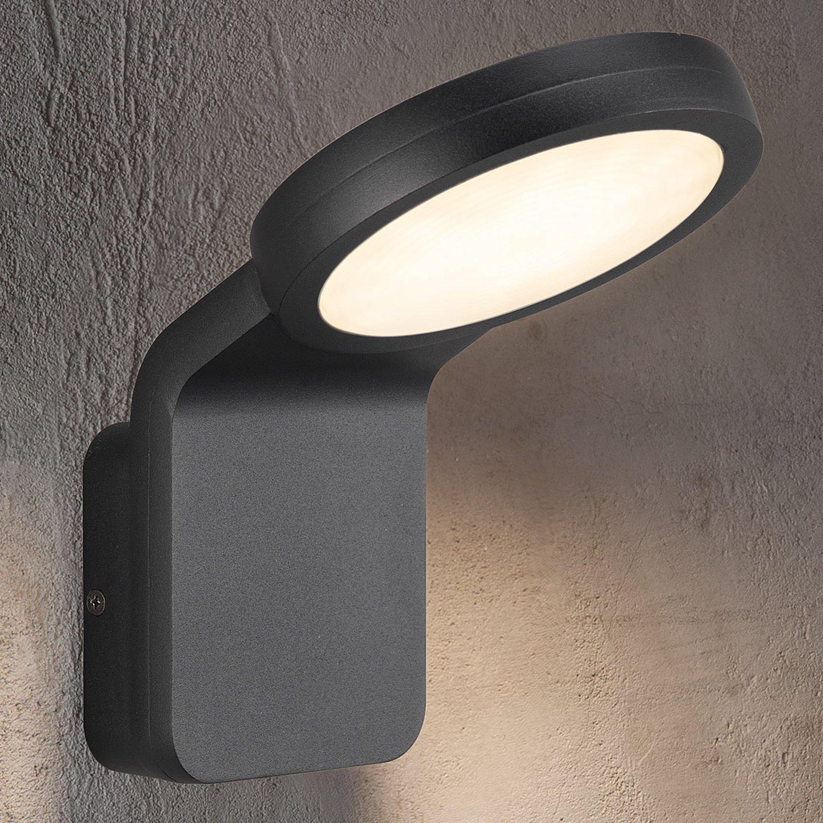 Effektiv utendørs LED-vegglampe Marina svart