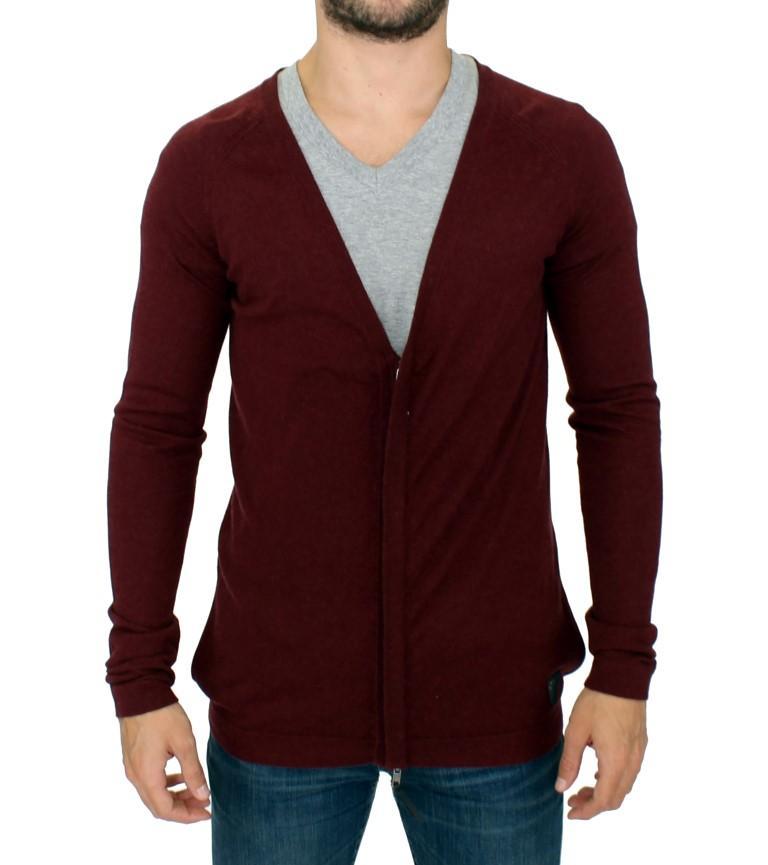 Costume National Men's Zipper Cardigan Bordeaux SIG10402 - IT48 | M