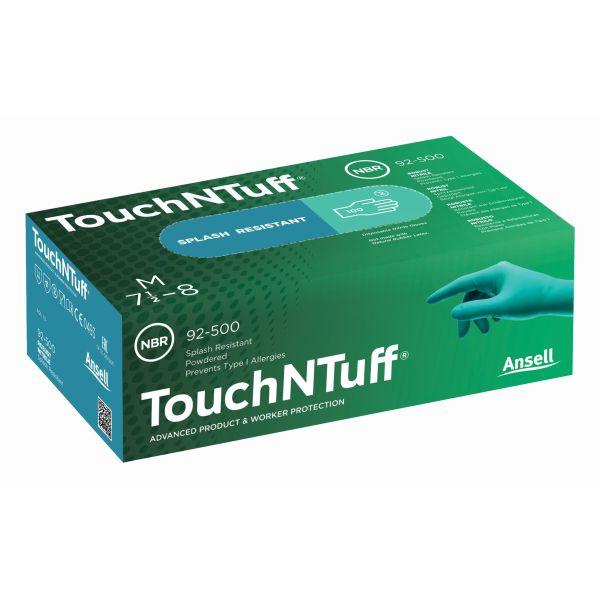 Ansell 92-500 Kertakäyttökäsine Vihreä nitriili, Puuteroitu Koko 6,5-7, 100-pack