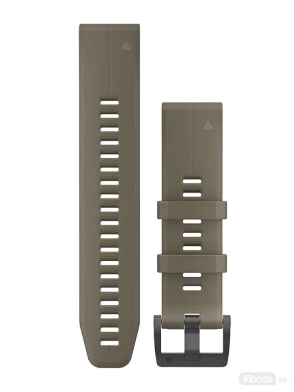 Garmin QuickFit 22mm - Klockarmband, Brun Silikon