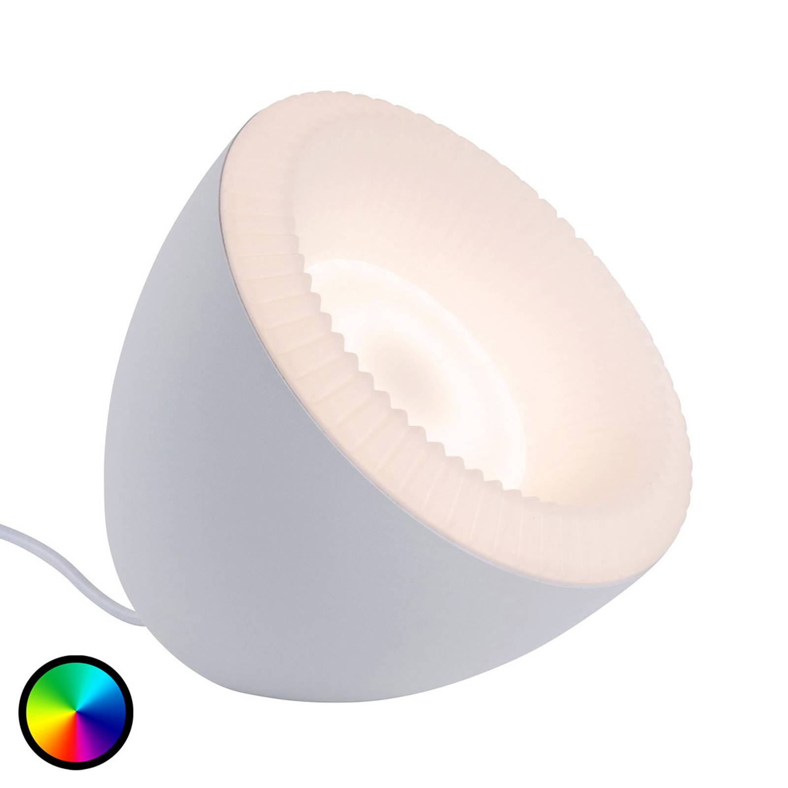 Paulmann Bluetooth Cornus -LED-pöytälamppu RGBW