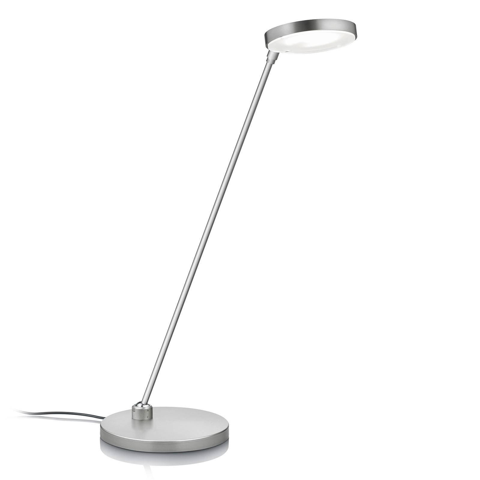 LED-bordlampe Thea-T, matt nikkel