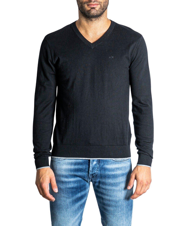 Armani Exchange Men's Sweater Various Colours 308093 - black-2 L