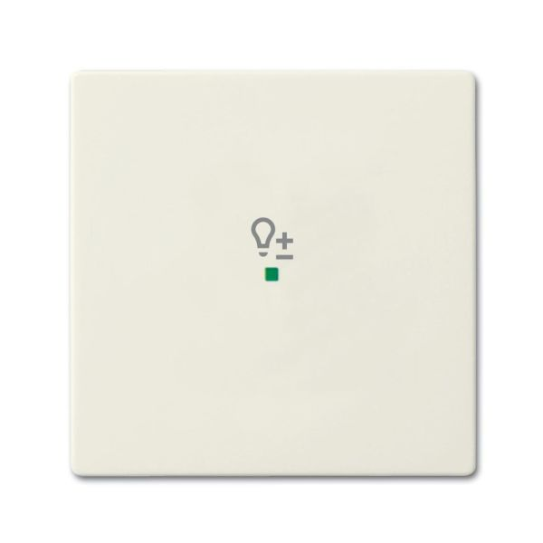 ABB Future Linear 6220-0-0588 Yksiosainen vipupainike himmennin Chalet-white