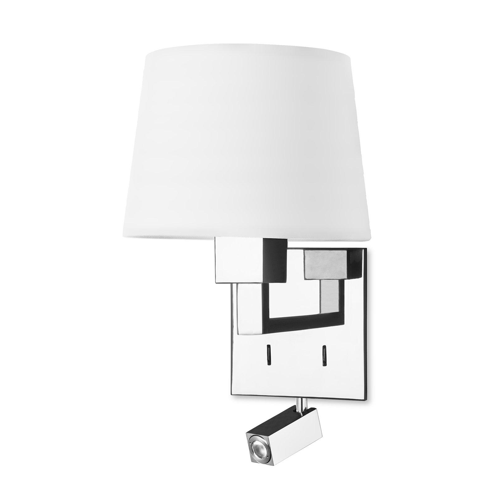LEDS-C4 Bali vegglampe med hvit skjerm Ø 20 cm