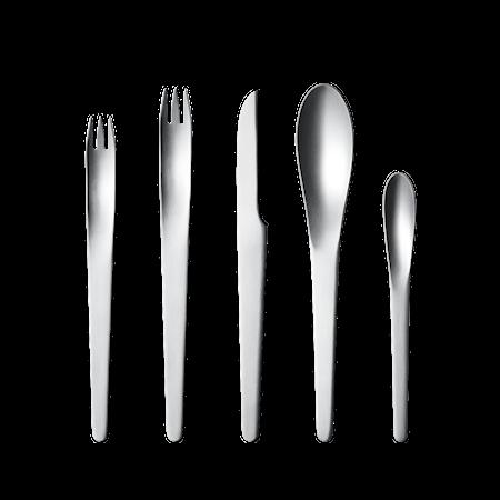 Arne Jacobsen Bestikksett 5 deler Rustfritt Stål