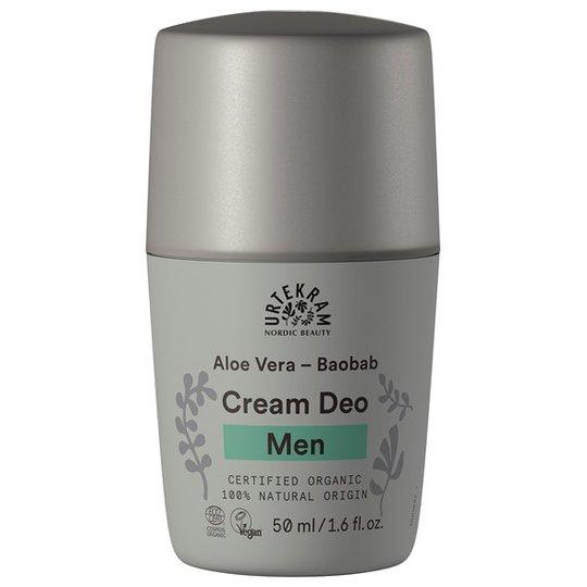 Urtekram Nordic Beauty Men Cream Deo - Aloe Vera & Baobab, 50 ml