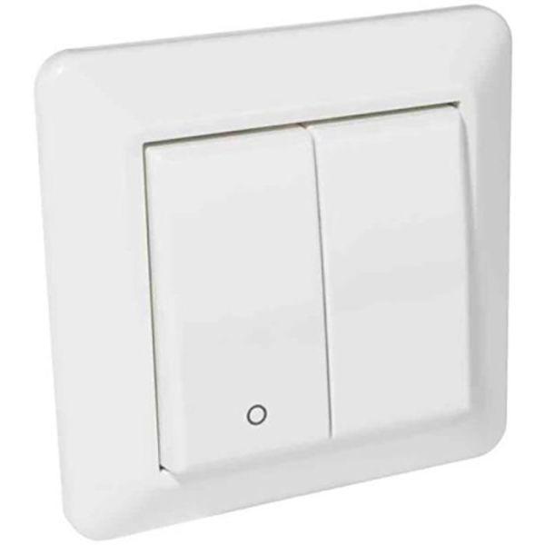 Elko RS16 Strømbryter innfelt, hvit 2 + 1 pol