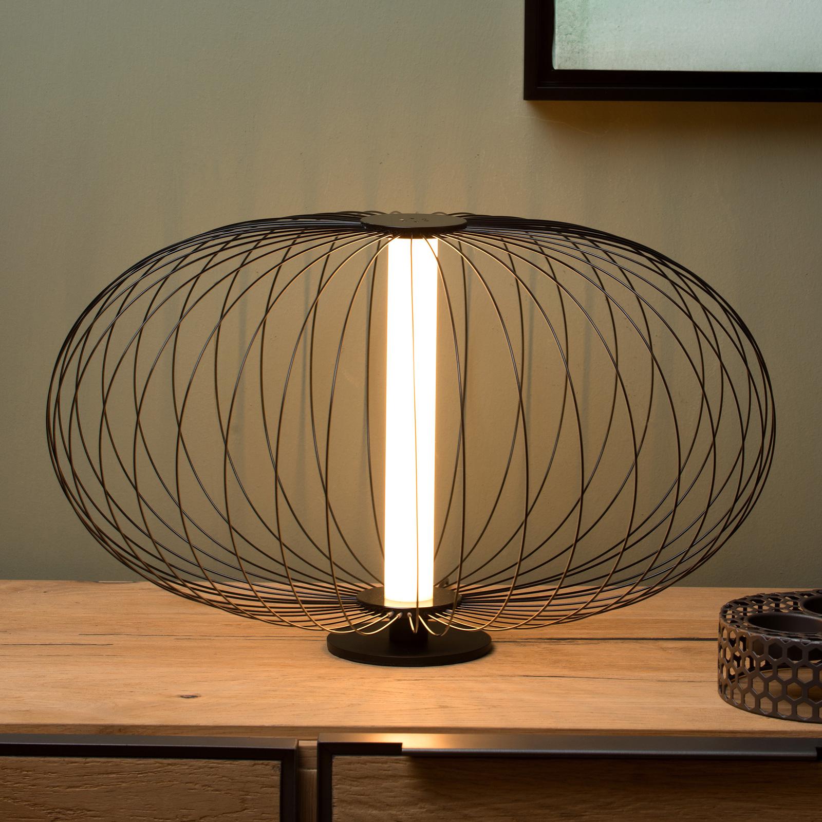 LED-pöytälamppu Carbony musta