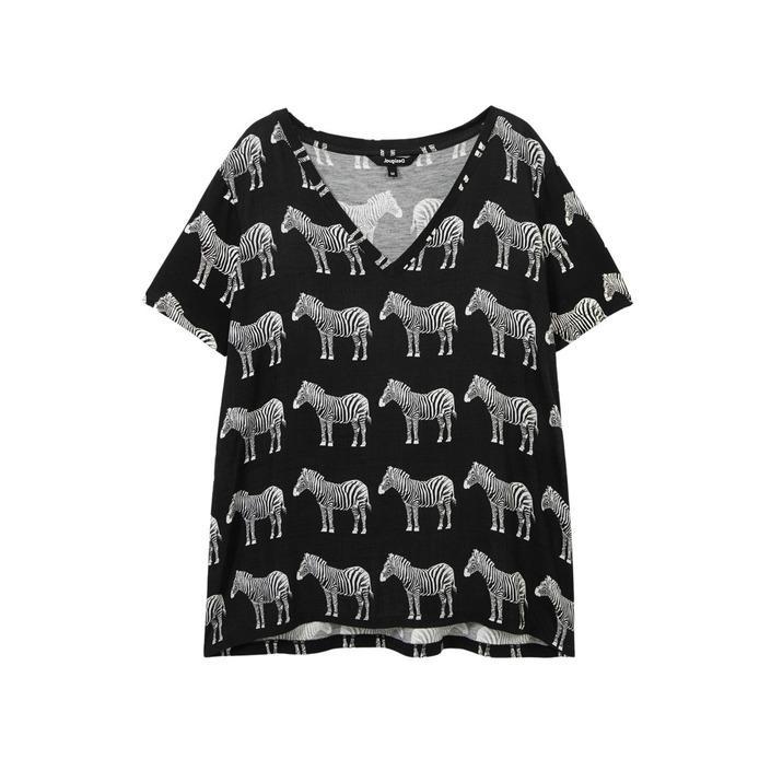 Desigual Women's T-Shirt Black 189039 - black S