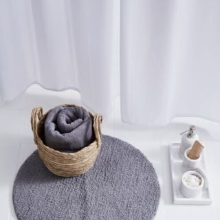 Living pyöreä 60cm kylpyhuoneenmatto harmaa