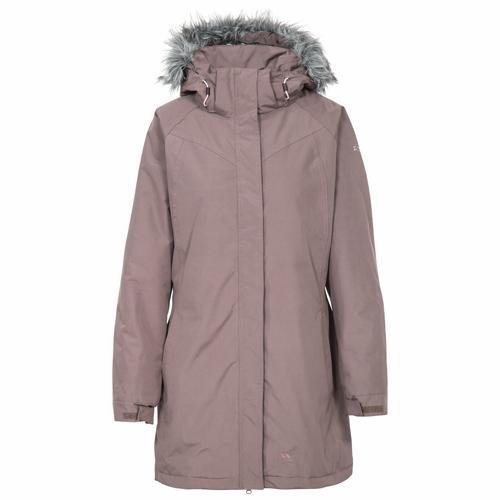 Trespass Women's Waterproof Winter Warm Parka Jacket Various Colours San_Fran - Dusty Heather S