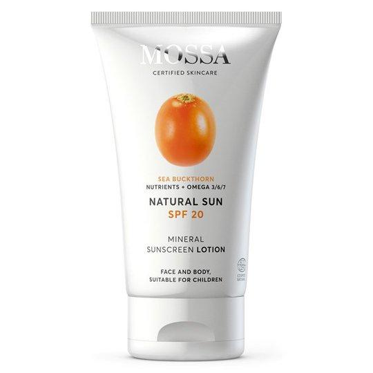 Mossa Mineral Sunscreen Lotion SPF 20, 100 ml