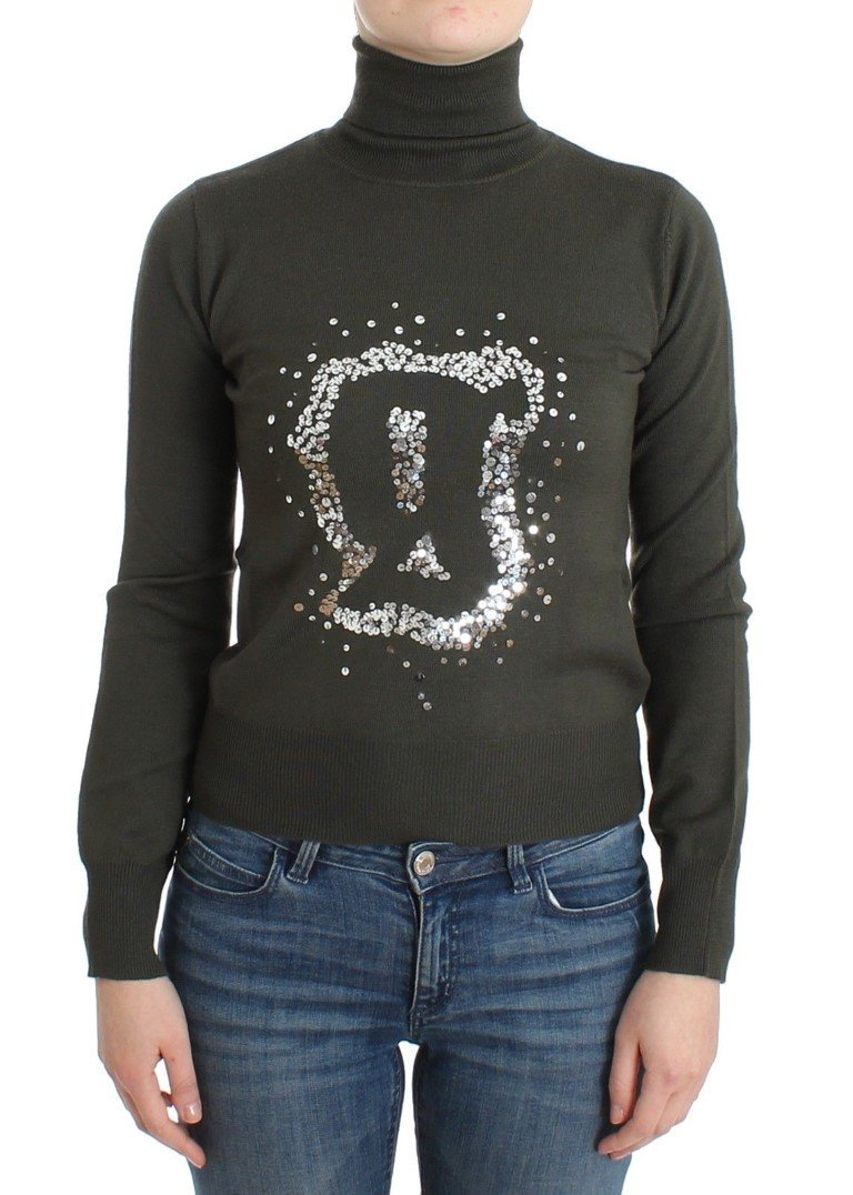 John Galliano Women's Wool Turtleneck Sweater Green SIG11967 - XS