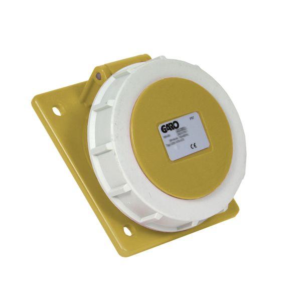 Garo UISV 232-4 S Paneelin ulostulo IP67, 3-napainen, 32A, viisto Keltainen, 4 h