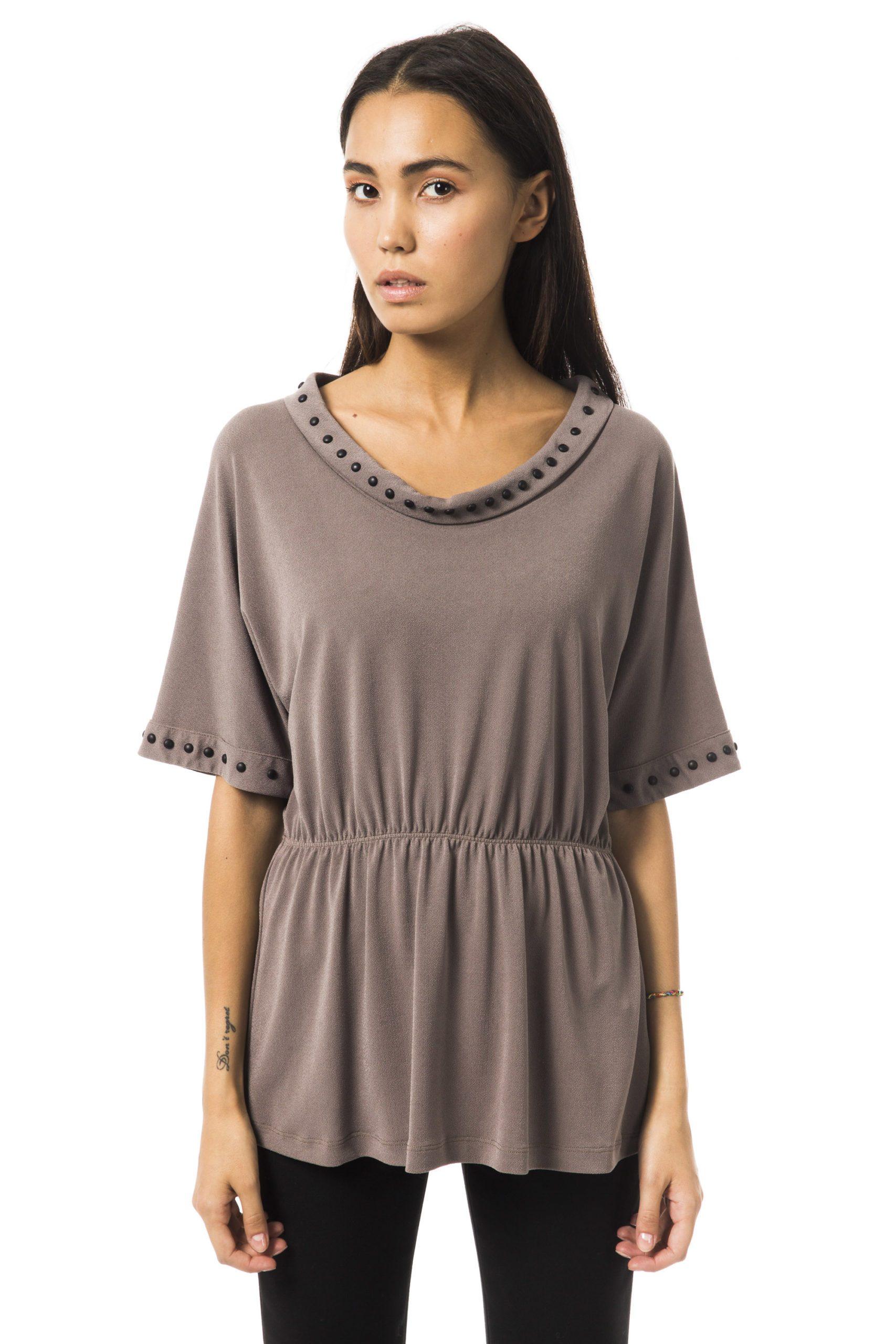 BYBLOS Women's Nebbia T-Shirt Gray BY1234749 - IT42 | S