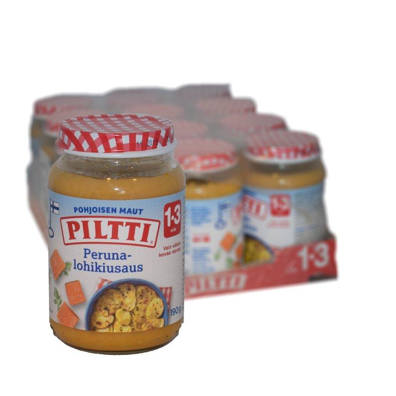 Laatikollinen Lastenruokaa Peruna-lohikiusas 12kpl - 21% alennus