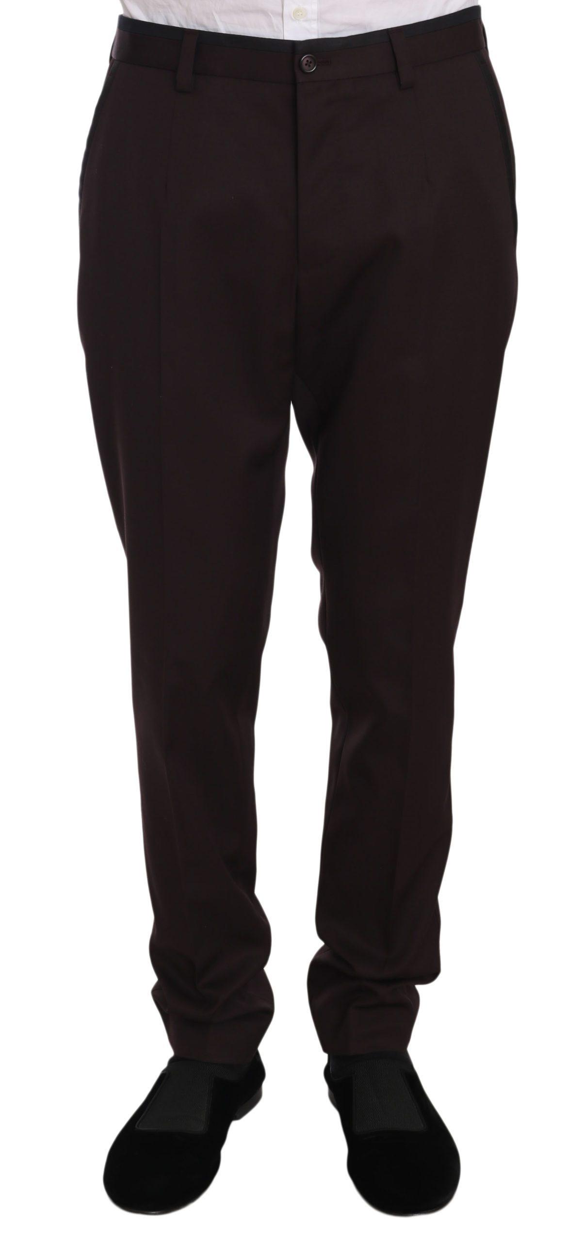 Dolce & Gabbana Men's Cotton Formal Trouser Purple PAN70083 - IT48 | M