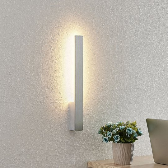 Arcchio Thiago LED-vegglampe, alu børstet