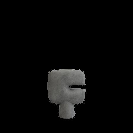 Tribal Vase Mini Dark Grey