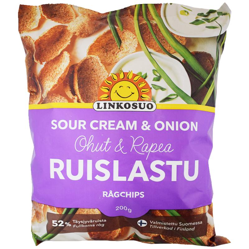"Ruislastu ""Sour Cream & Onion"" 200g - 55% alennus"