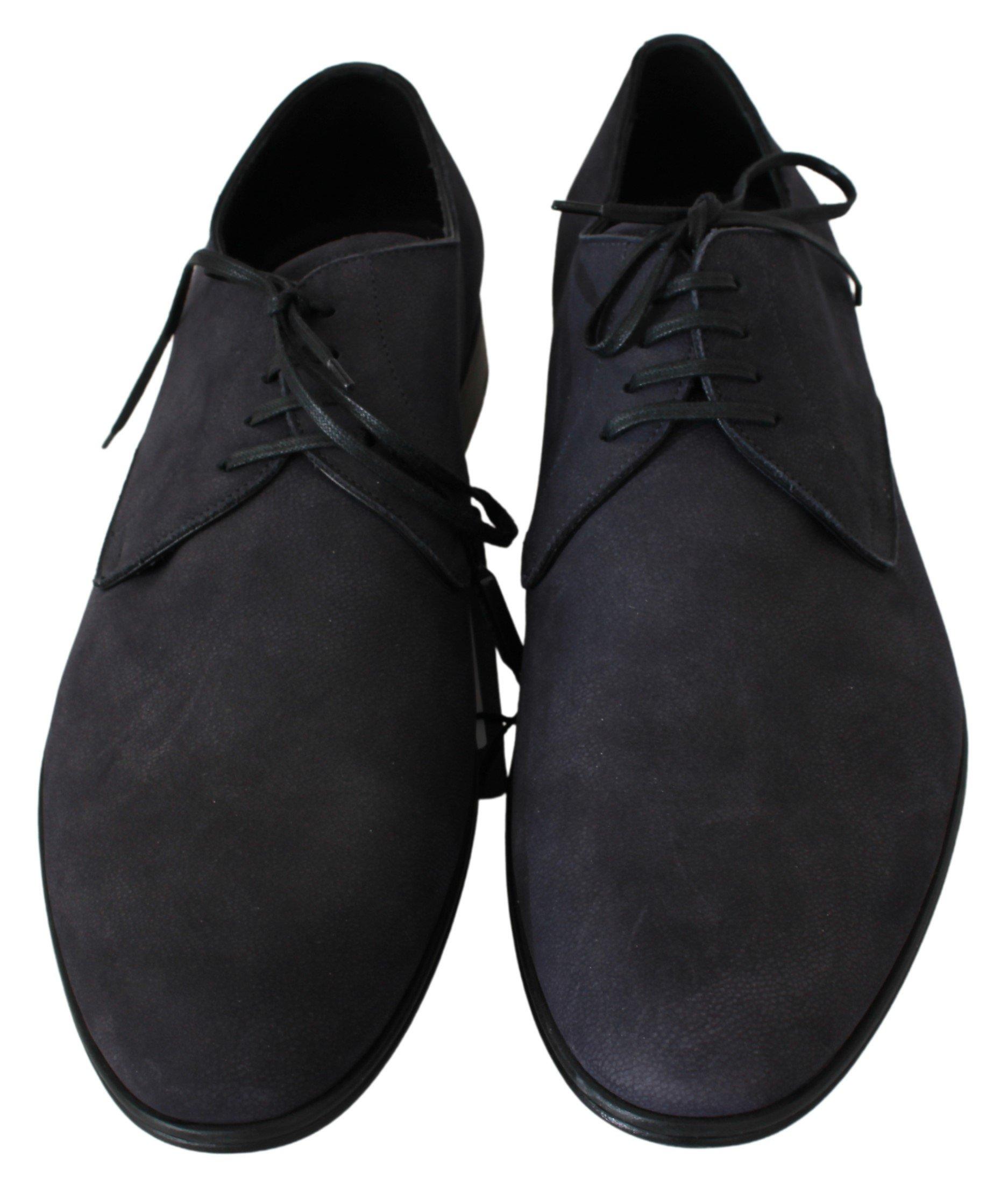Dolce & Gabbana Men's Leather Derby Shoes Blue MV2717 - EU44/US11