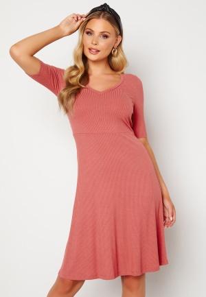 Happy Holly Lindsey dress Dark dusty pink 32/34