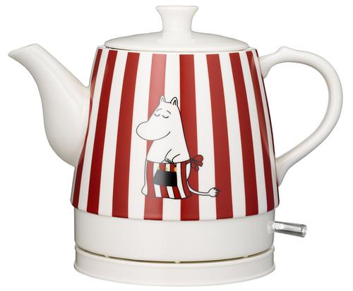 Moomin Ceramic, 0.8l Red Design, 1750w Vattenkokare - Röd