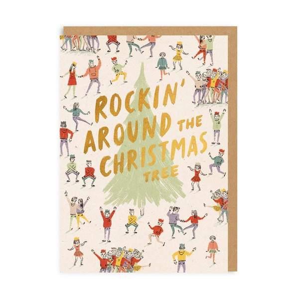 Rockin' Around The Christmas Tree Christmas Card
