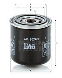 Öljynsuodatin MANN-FILTER WD 920/9